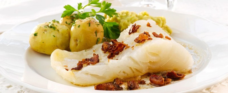 Lutefisk é um dos pratos típicos noruegueses mais famosos do país.
