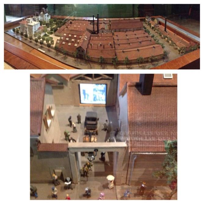 maquete da fábrica Lumiere