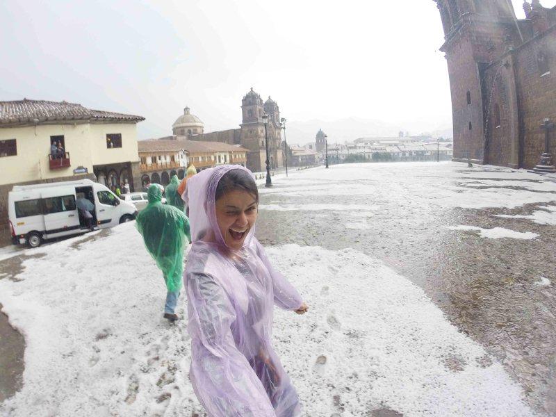 chuva de granizo em Cusco
