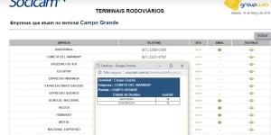 Site da SOCICAM de Campo Grande - Ônibus para o Paraguai – Atualização da ligação rodoviária internacional