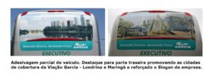 Viação Garcia 2011 300x105 - Pinturas dos ônibus – O que há de mais moderno e chamativo em design de frota