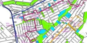 Coberrtura das linhas 24 28 42 57 - Regiões populosas de Sorocaba – Linhas de ônibus urbanas predominantes