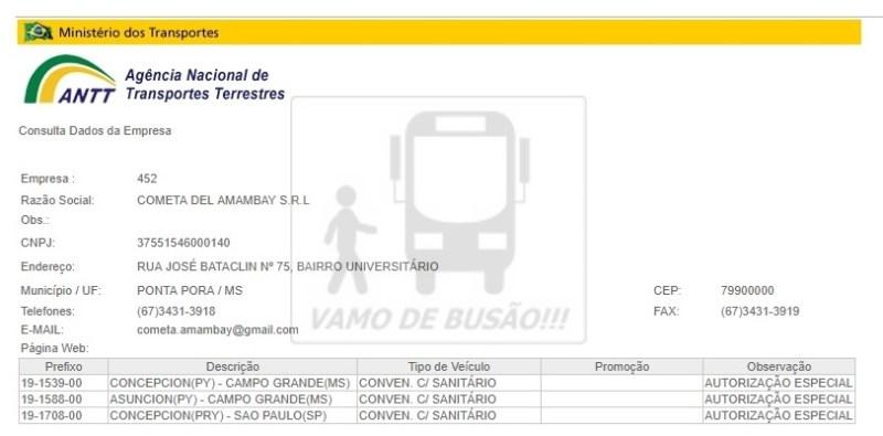 COMETA DEL AMAMBAY - Ônibus do Brasil para Paraguai – Saiba mais sobre esta ligação rodoviária internacional