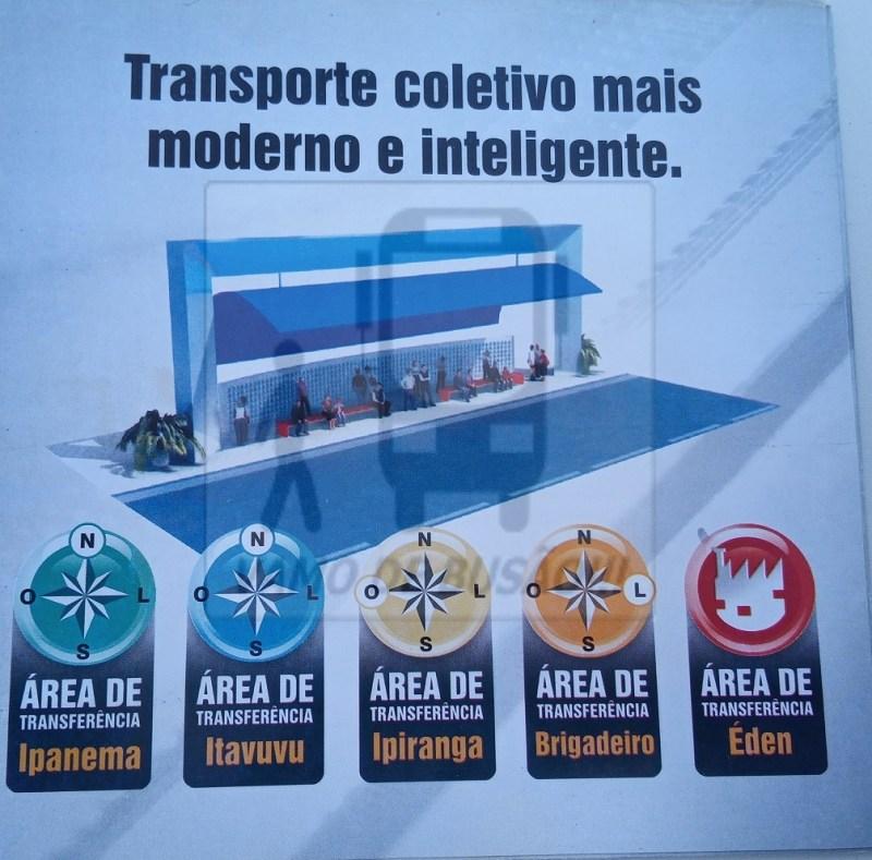 Propaganda das Areas de Transferencias - Cidade de Sorocaba – Linhas Interbairros