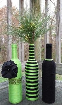 Centros de Mesa con Botellas de Vidrio