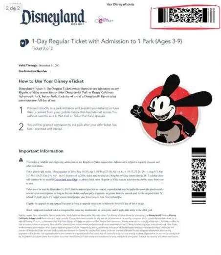 boleto para disney digital eticket