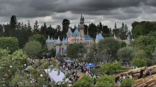 lluvia en Disneyland