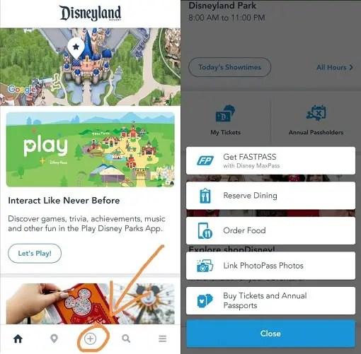 aplicación de Disneyland: Cómo usarla App