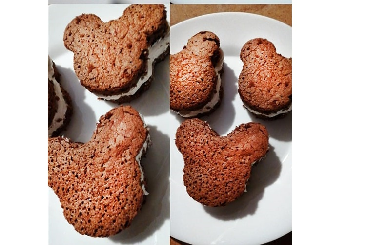 Receta: Sandwich de Brownie de Mickey Mouse