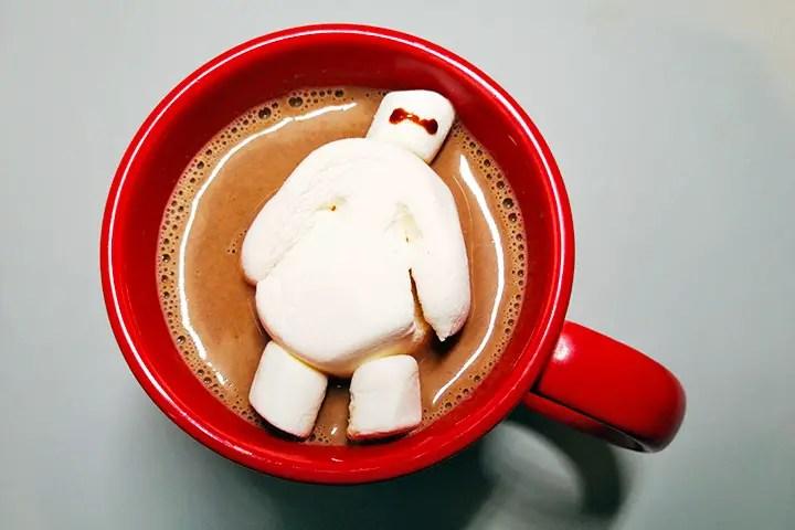 Receta chocolate caliente Baymax