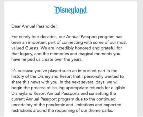 Disneyland Cancela Programa de Pases Anuales