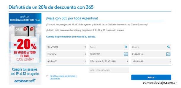 Aerolineas Argentinas Clarin 365