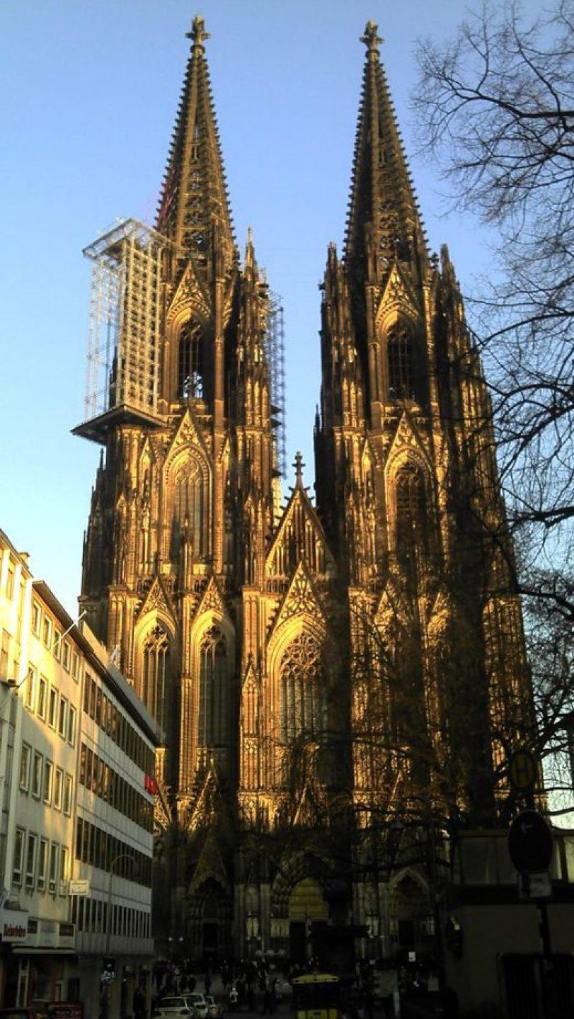 A catedral de Colônia, o ponto turístico mais visitado da Alemanha
