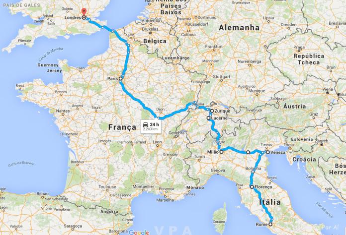 Nosso Roteiro Pela Europa