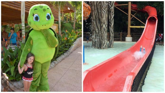 atrações voltadas para crianças no Hot Park