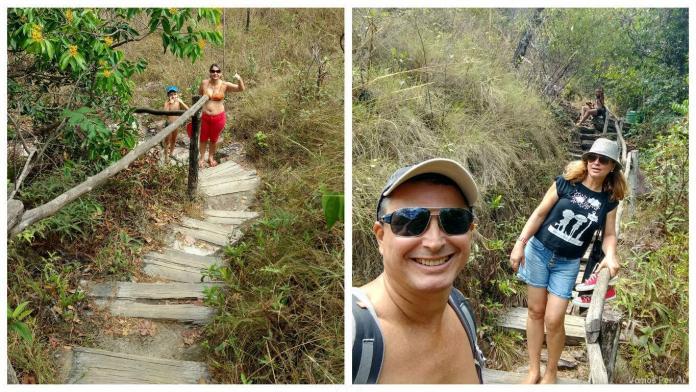 Como são as trilhas em Salto Corumbá com Crianças