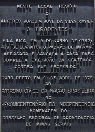 casa onde morou Tiradentes em Minas Gerais