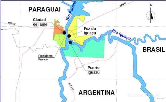 localização de foz do Iguaçu