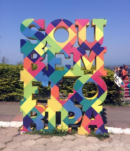 Roteiro em Florianópolis: letreiro sou bem Floripa