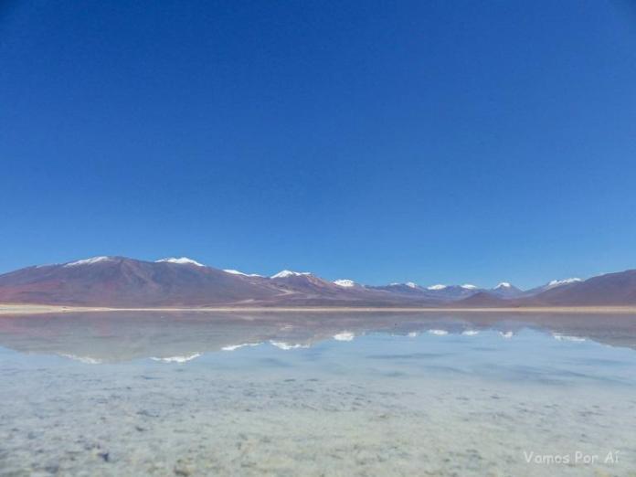 Laguna Blanca na Bolívia