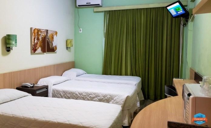 Quarto no hotel Eco Residence em Porto Alegre