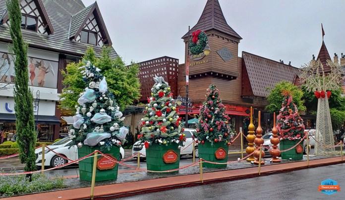 Natal em Gramado: cidade enfeitada