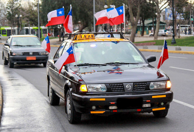 Caímos no Golpe do taxista no Chile