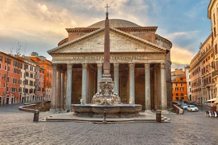 Panteão na Cidade Eterna na Itália, principais pontos turísticos de Roma
