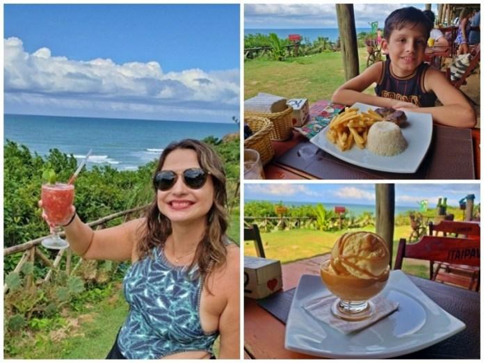 restaurante com vista para o mar em Pipa