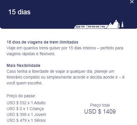 Quanto custa um passe de trem Eurail, qual o valor de um passe de trem