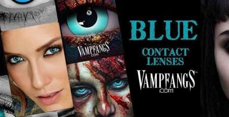 VAMPFANGS BLUE CONTACT LENSES