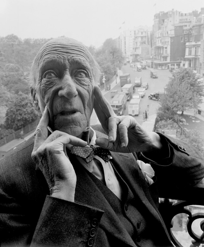 Algernon Blackwood, London, 1951; photograph by Norman Parkinson