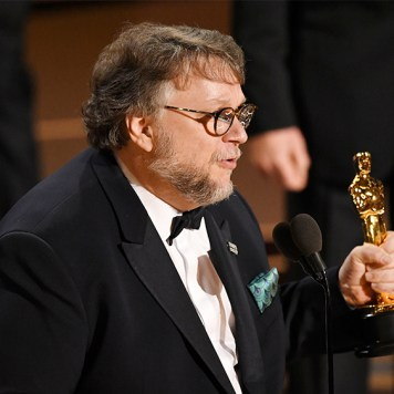 Mandatory Credit: Photo by Rob Latour/REX/Shutterstock (9446184kh) Guillermo del Toro - Best Picture - 'The Shape Of Water' 90th Annual Academy Awards, Show, Los Angeles, USA - 04 Mar 2018