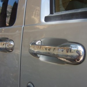 Door Handle Covers (5 Pcs) for Ford Connect Stainless Steel -0
