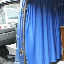 Ford Transit MK7 Cab Divider Curtain Kit-19550