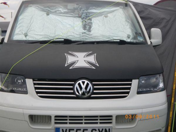 Iron Cross Bonnet Bra / Cover for VW Transporter T5-2571