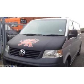Bonnet Bra / Cover Welsh Dragon for VW Transporter T5-1257