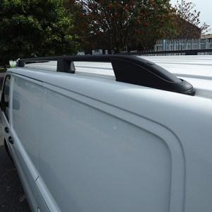 Roof Rails / Bars for VW T5 Transporter SWB BLACK-0