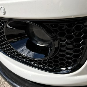 HONEYCOMB SPORTLINE FRONT SPOILER FOG LIGHT TRIM + BUMPER MESH FOR VW T5.1 (BLACK)-8920