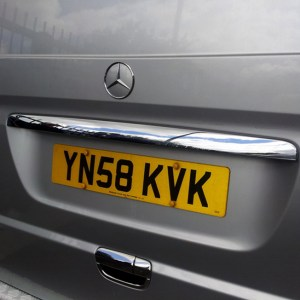Tailgate Number Plate Trim for Mercedes Vito (Ideal gift)-0