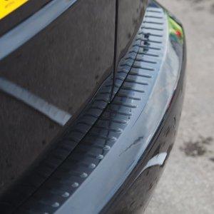 Black Rear Bumper Protector for VW Caddy-0