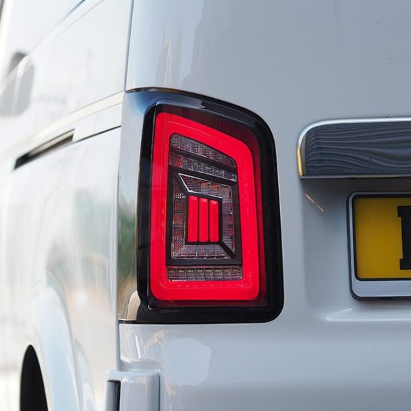 LED Rear Lights for VW T5 & T5.1 Transporter BARNDOOR NEW LIVE indicator rear lights (Audi style)-8852