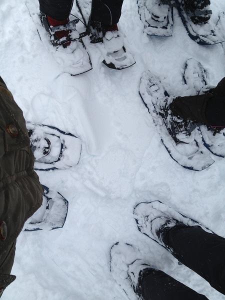 看看我们的雪鞋。