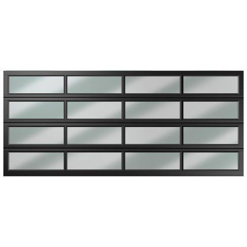 Van Acht Garage Door Aluminium DBL 16 Panel Equal