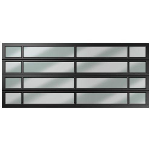 Van Acht Garage Door Aluminium DBL 16 Panel Unequa