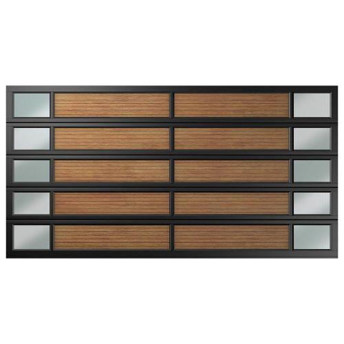Van Acht Garage Door Double 20 Panel YOSO Type 3 Charcoal Caravan