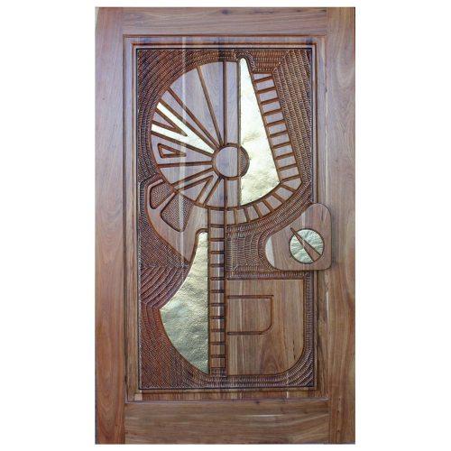 Van Acht Designer Carved Pivot Door Africa 2