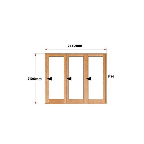 Van Acht Wood Doors Folding Full Pane VSF2560G1