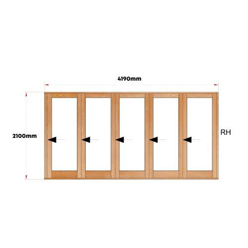 Van Acht Wood Doors Folding Full Pane VSF4190G1