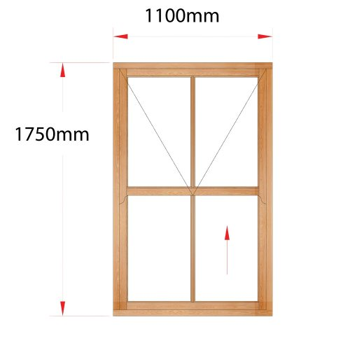 Van Acht Wood Easy Lift Sash Windows Product HMEL4V 1